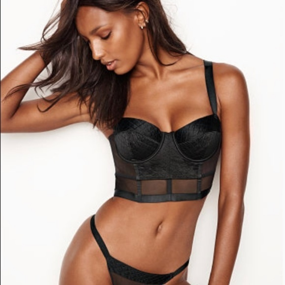 0ac1eedaa8 Victoria s Secret very sexy black bondage bustier